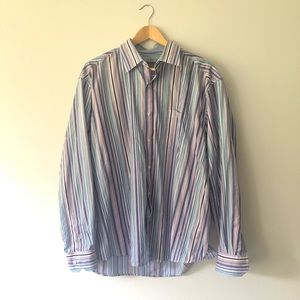 Johnston and Murphy Colorful Striped Dress Shirt
